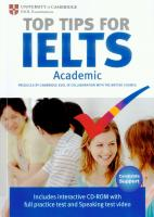 Top Tips for IELTS: Academic